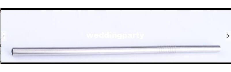 """Palha de aço inoxidável reta da palha 200x6x0.3mm 8 """"comprimento"""