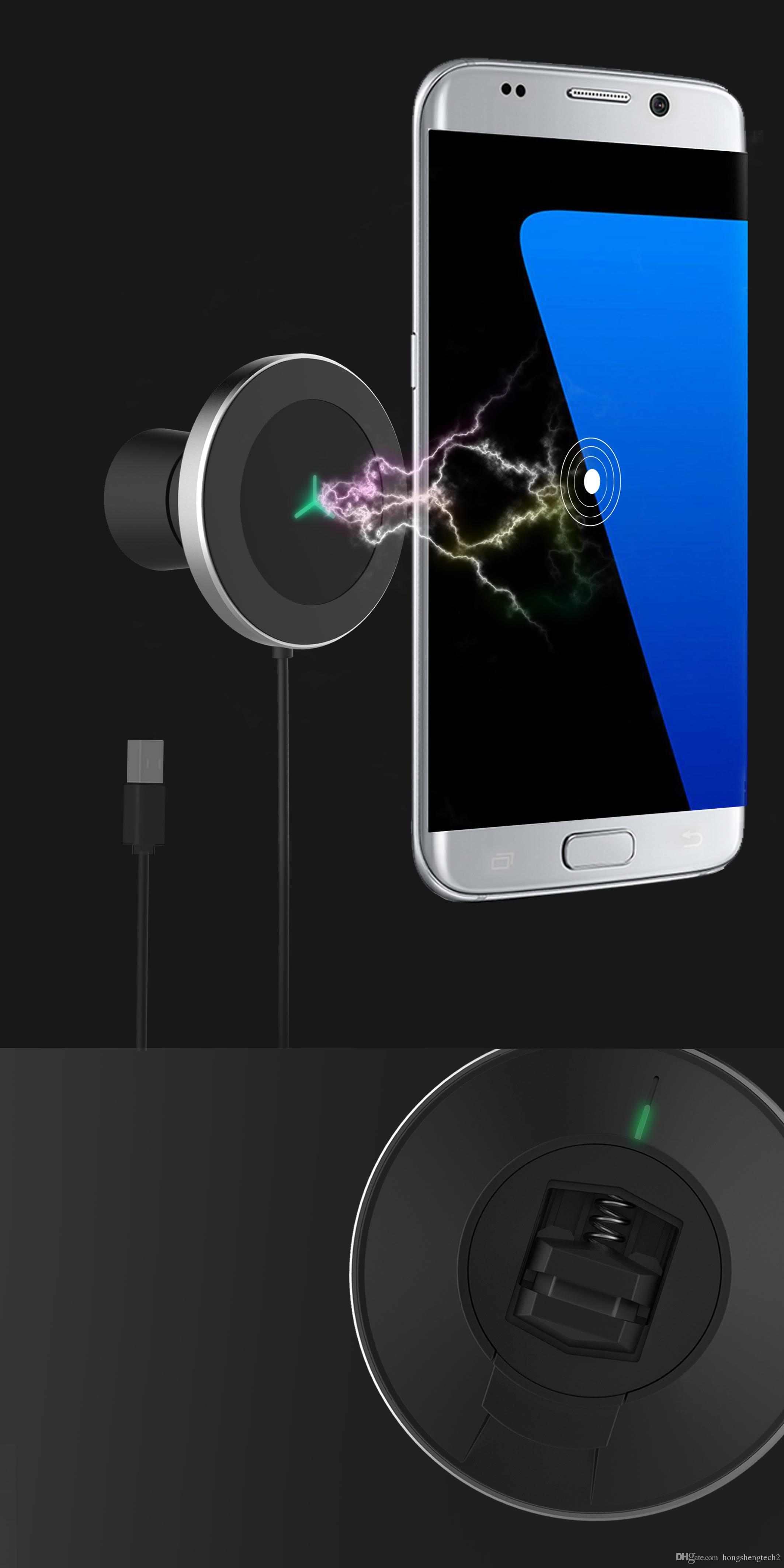 QI wireless portable car charger magnetic air vent mount ,Car Charger for mobile phones