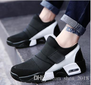 Nouveau Unisexe Casual Chaussures Air Respirant Casual Mode Krasovki boty calcados obuv Tenisky Appartements Hauteur Augmentation chaussures hommes
