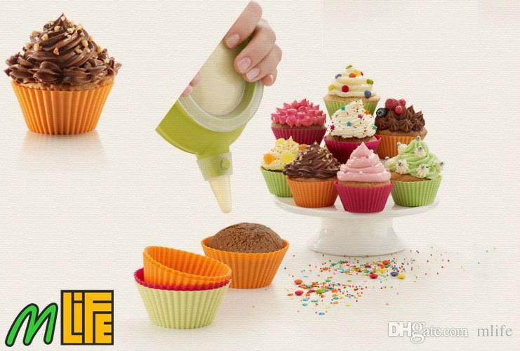 forma Alta Qualidade Rodada Casos de silicone Muffin Bolo Cupcake Moldes Liner Baking molde Bakeware fabricante de moldes Assadeira