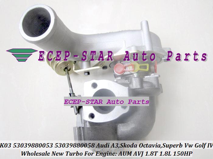 K03 053 058 53039700053 53039700058 Turbocharger for AUDI A3 ، SKODA Octavia ، Superb VW Golf IV 1.8T AUM AVJ AWT ARX ARZ 1.8L