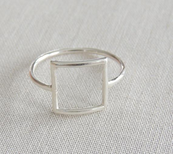 Minutes 1 PC gold/silver/rose gold punk square ring gift for friends and unique jewelry JZ112 joint holiday best gift