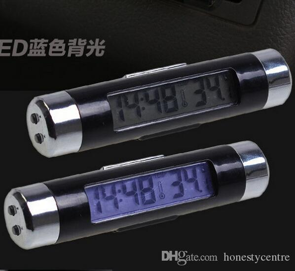 New arrival Car Electronic Clock Thermometer Combo electronic watch Car Interior Temperature tester LCD Digital display with backlight