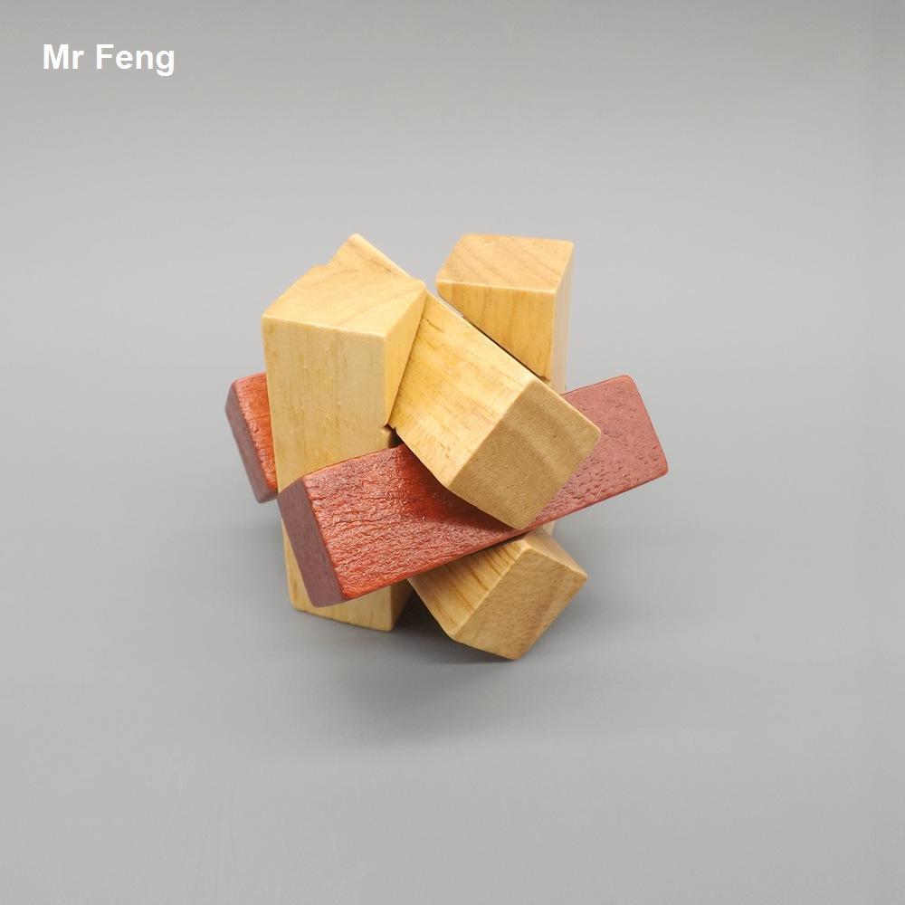 Divertido Inteligência Brinquedo Adulto Crianças De Madeira Tradicional Kong Ming Bloqueio Gadget Enigma Kid Presente