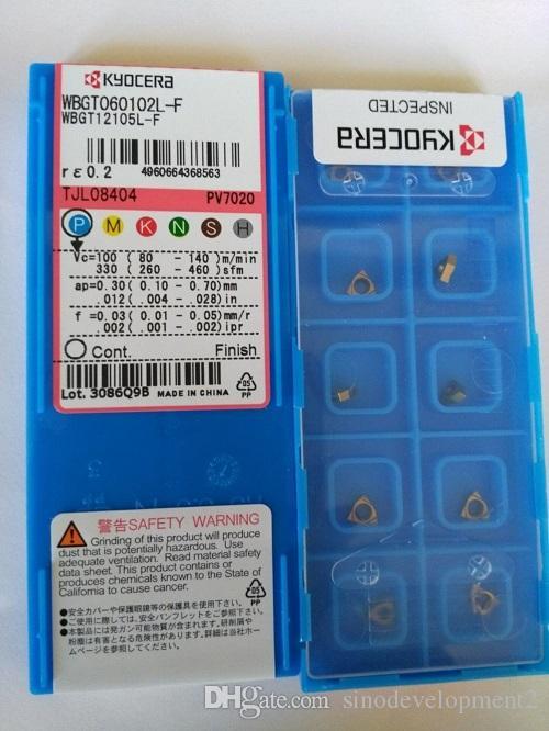 ВСТАВКА КАРБИДА WBGT060102L-F PV7020 KYOCER 10PCS