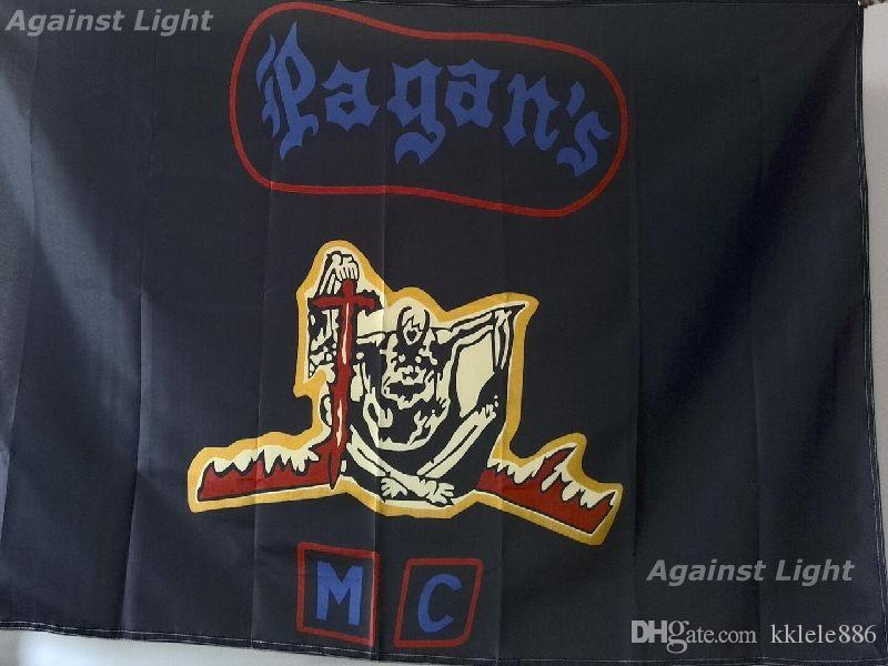 2019 Pagan'S Motorcycle Club Flag 90 X 150 Cm Polyester The Pagans Outlaw  MC Biker Banner From Kklele886, $6 04 | DHgate Com