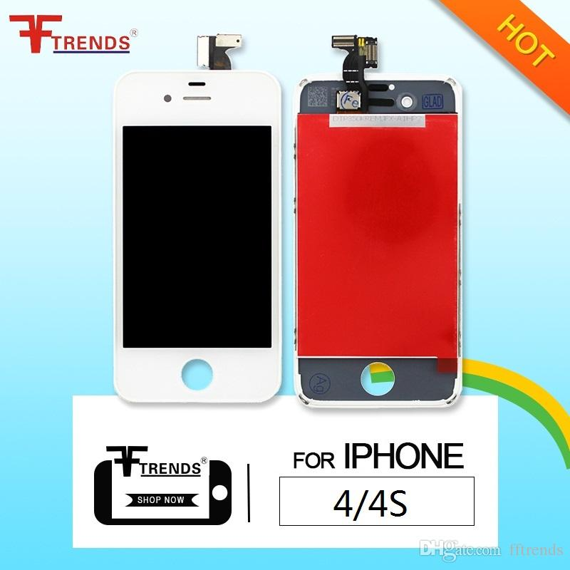 for iPhone 4 4S LCD Display & Touch Screen Digitizer Full Assembly Cheap Price Black White 5pcs/lot Free China Post Shipping