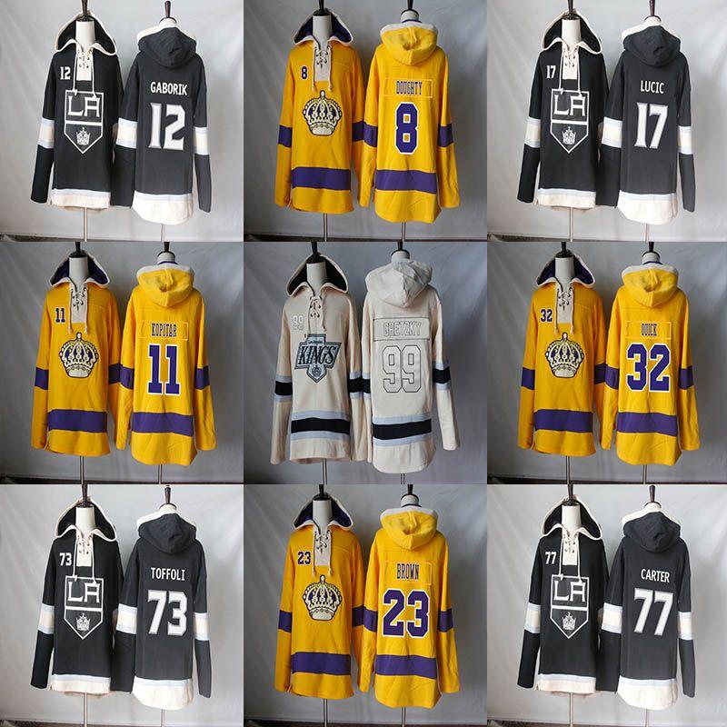 Los Angeles Kings 99 Wayne Gretzky 77 Jeff Carter 73 Tyler Toffoli 23 Dustin Brown 17 Michael Latta 12 Marian Gaborik Hoodies Tişörtü