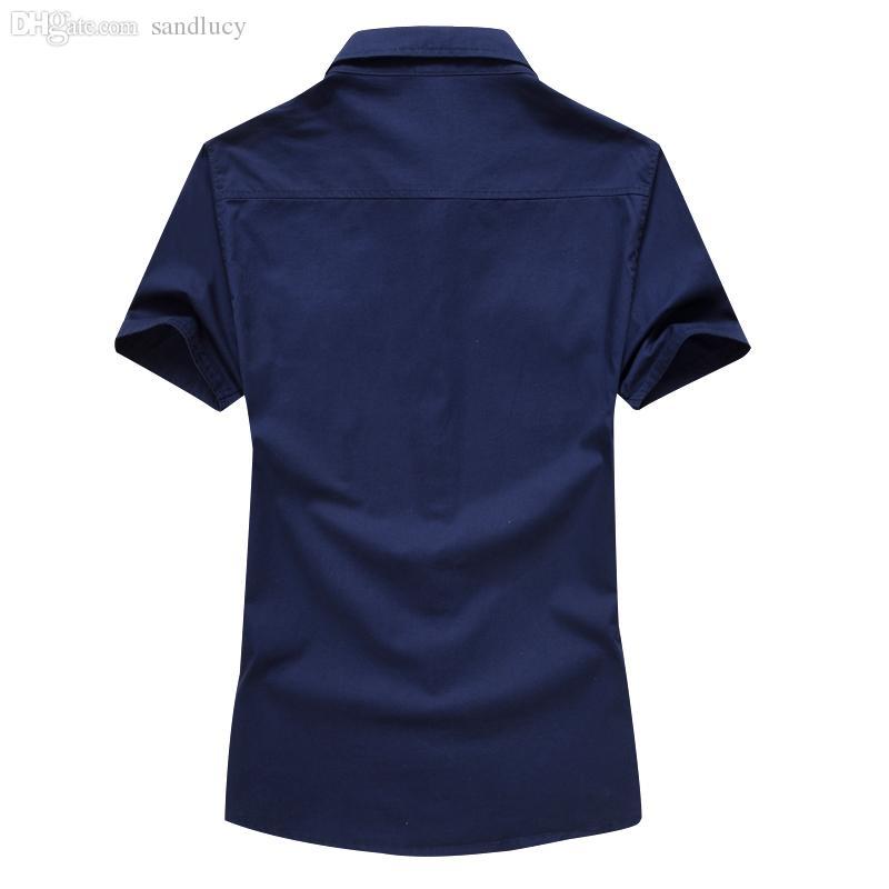 الجملة-الصيف الرجال عارضة قمصان نمط قمصان في الهواء الطلق camisa الغمد M-6XL AYG52