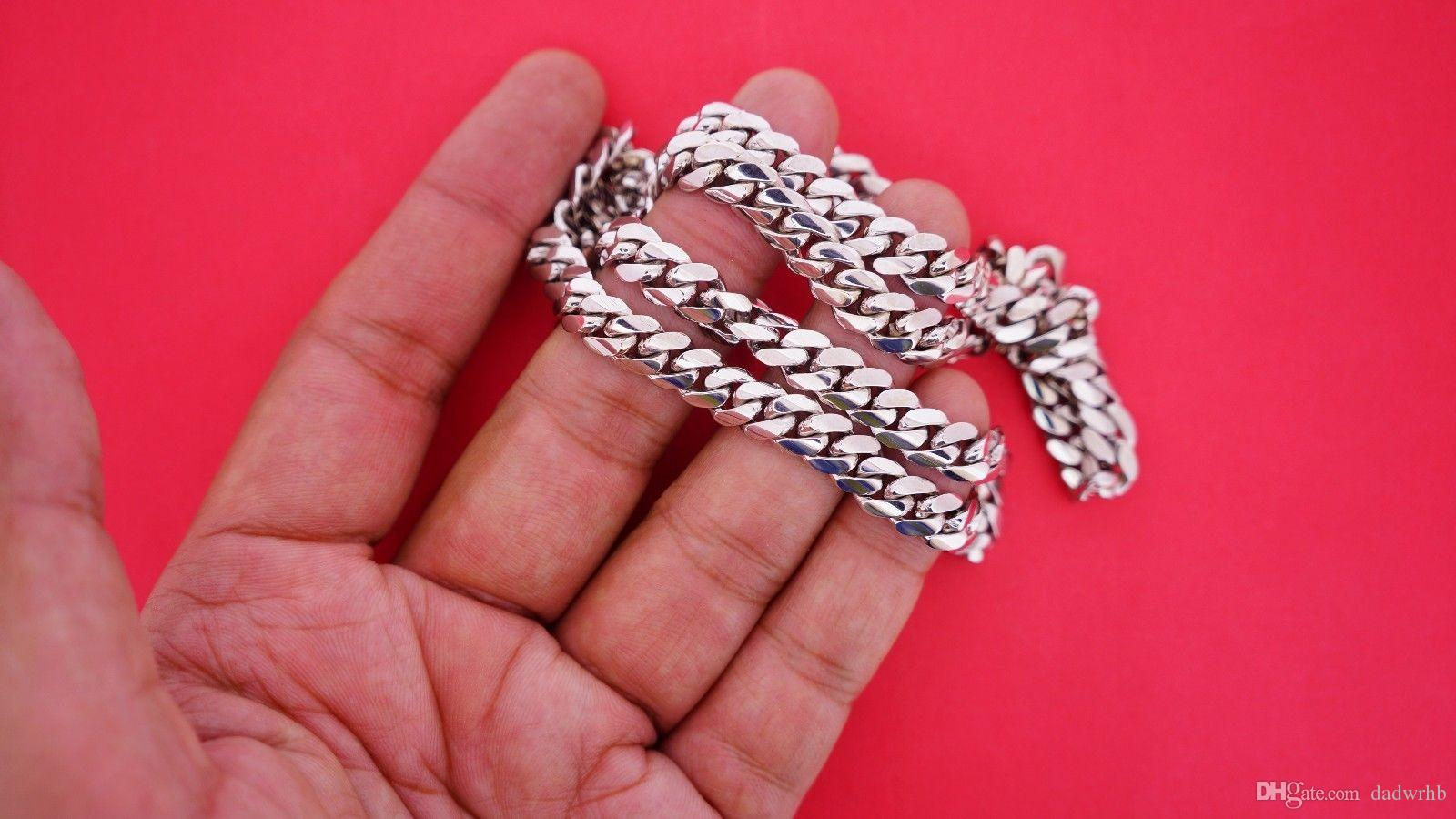 Wholesale 105 Grams Miami Cuban Link Chain Necklace In Solid 10k Wg ...