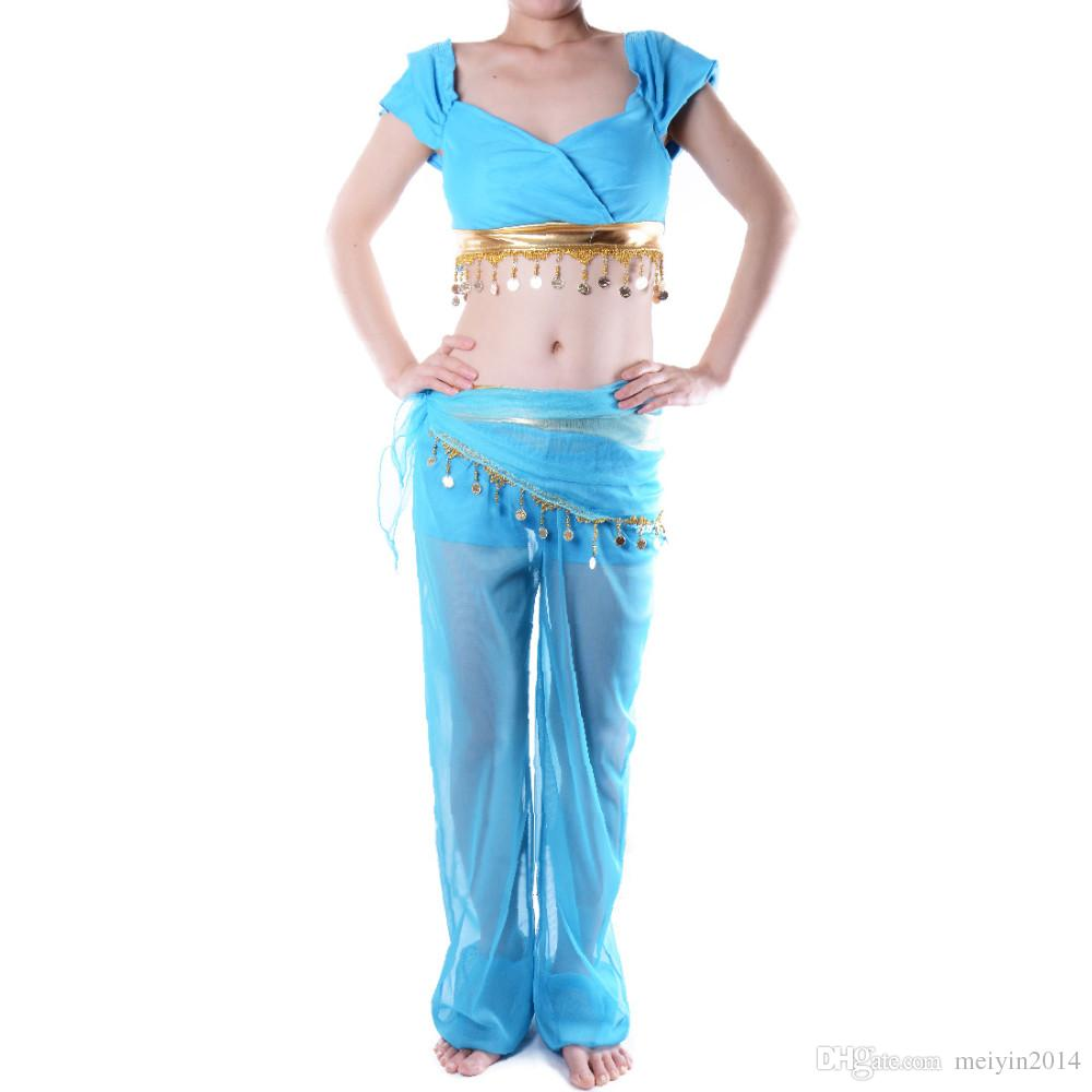 Wholesale Hot Princess Jasmine Costume Adult Aladdin Dance Party ...