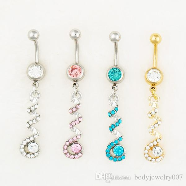 1 pcs NEW Wing Gem Belly Rings 3 Different Colors
