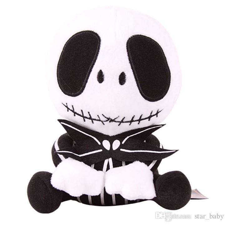 10 inç Cadılar Bayramı Jack İskelet Peluş Oyuncaklar EMS 2 Stil 20-25 cm Çocuk Anime Kabus Noel Doldurulmuş Oyuncaklar K7845 BJ