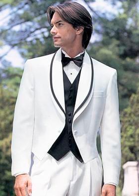 Nueva llegada --- Nuevo diseño de calidad superior mantón Colar Novio smoking Padrino de boda / Vestido de novia para hombre (Chaqueta + pantalones + corbata + Chaleco) A045