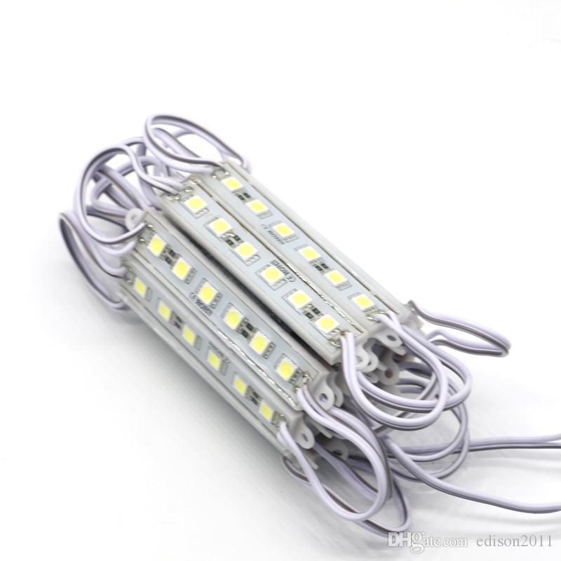 Módulo LED Edison2011 DC12V 6LEDs lâmpada de luz SMD 5050 IP65 impermeável Cartas sinal de LED módulos para