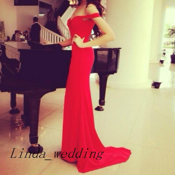 Free Shipping Red Bodycon Long Prom Dresses New Arrival Chiffon Prom Gown Evening Dresses Stunning Sweetheart Vestidos De Fiesta