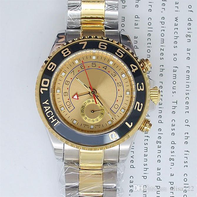 Mode Marke Neue Weißes Gesicht Keramik Saphir Luxus Herren Automatische Mechanische Uhren Klassische Zwei Ton Zeiger Edelstahl Armbanduhr Für Männer