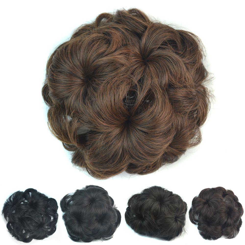 Sara Chignon Hair Bun Flower Hairstyle SyntheticHair