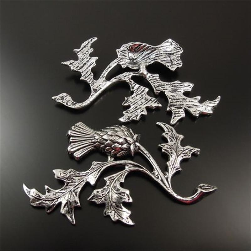 20 PCS Estilo Antiqued Tom De Prata Liga THISTLE Pingentes Encantos 47 * 32 * 2 MM fabricação de jóias