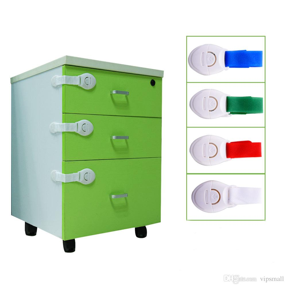 10 Baby Child Safety Cabinet Cupboard Fridge Locks Drawer Latch Lengthened