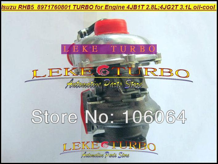 Wholesale New RHB5 VA190013 VICB 8971760801 turbo for ISUZU Engine 4JB1T 2.8L 4JG2T 3.1L oil cooled turbocharger (3)