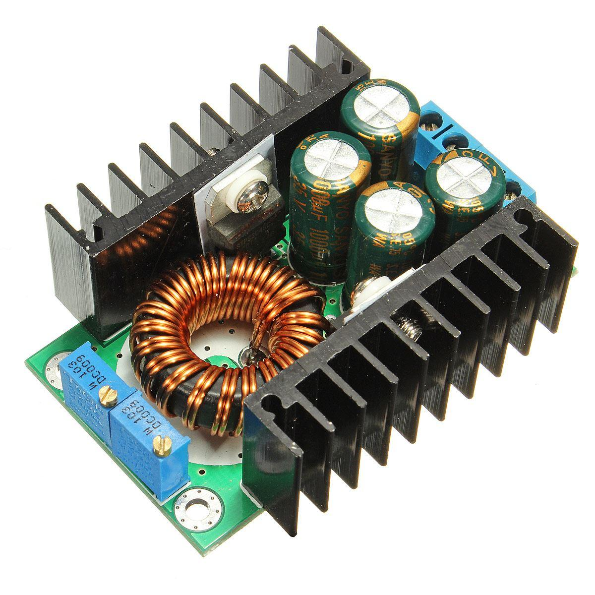 12A 300W 7-32V to 0.8-28V DC-DC CC CV Buck Converter Step-down Power Module WT