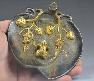 Decorazioni artigianali cinesi in rame con squisita fattura - la rana