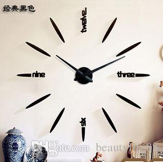 المتضخم معدنية بسيطة الإبداعية ساعة الحائط diy ملصقات الحائط غرفة المعيشة ساعة الحائط diy الفن صاروخ ساعة