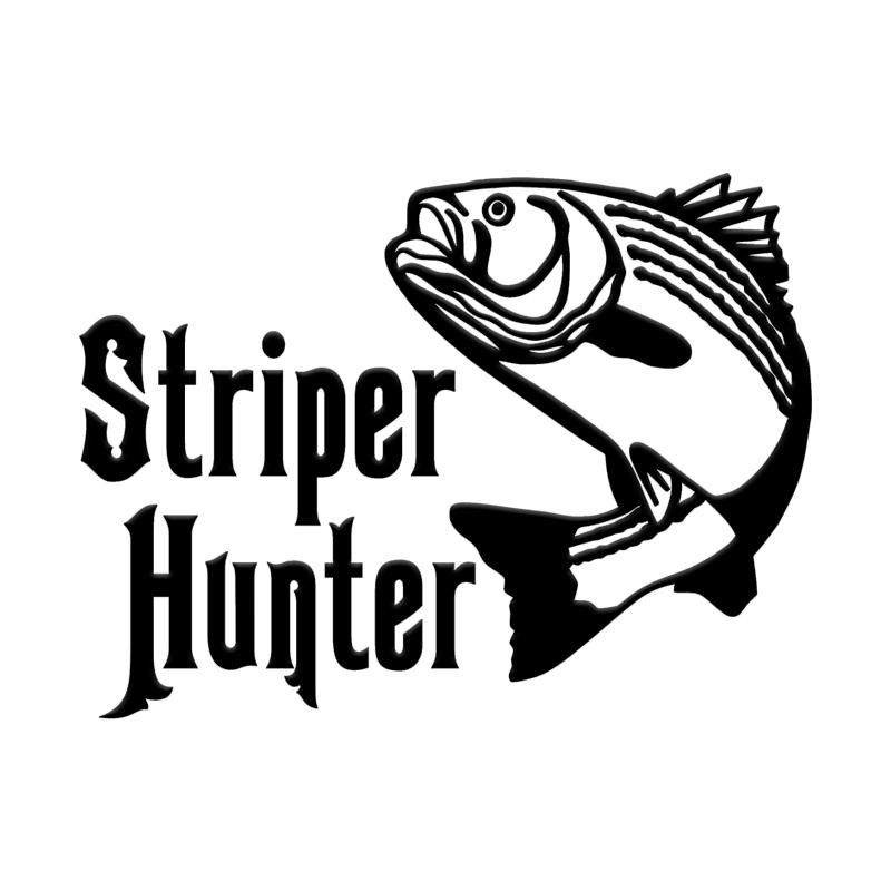 Striper Hunter Fishing Car Truck Window Wall Laptop Vinyl Decal Sticker.