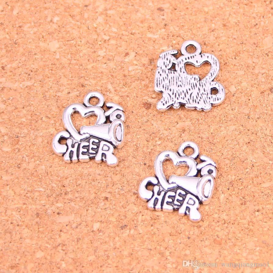 67 unids plateado plata antigua me encanta animar los colgantes de los encantos para la joyería europea que hace la fabricación de bricolaje hechos a mano 17 * 16 mm