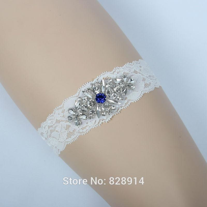 2018 Original Design Stretched Lace Wedding Garter With Crystal