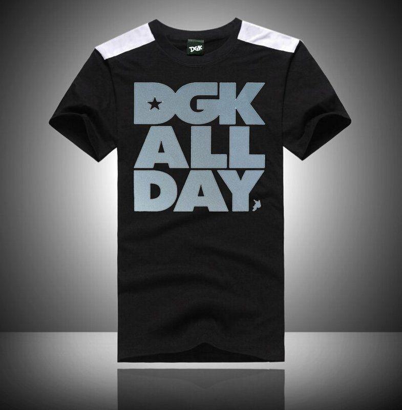 86552 spedizione gratuita s-5xl uomo casual quick dry stampa o-collo misto cotone t-shirt DGK hip hop