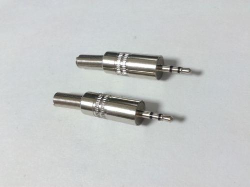 50pcs lot high quality 2.5mm Stereo TRS Male Audio Jack adapter Soldering DIY