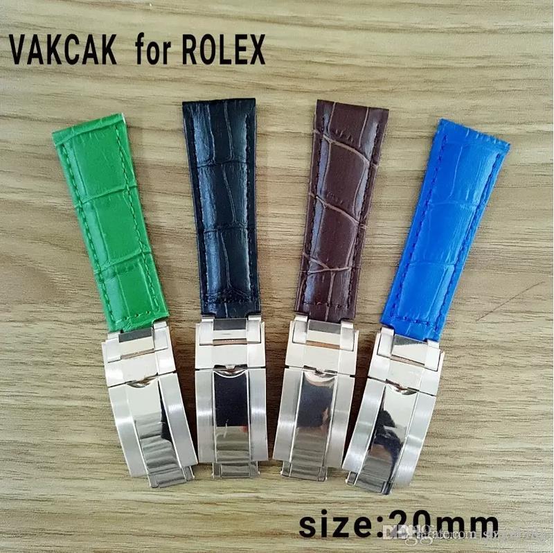 20 мм ремешок для Rolex SUB / GMT прочный ремешок для часов с оригинальной стальной застежкой из розового золота