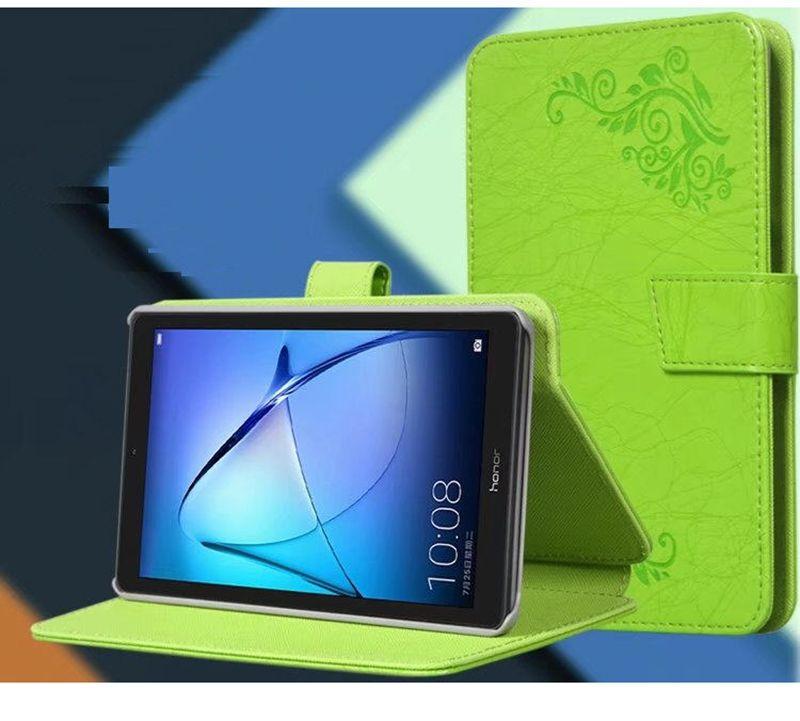 Print Flower PU Leather Case Cover for Huawei Mediapad T3 7 7.0 WIFI BG2-W09 Tablet Hand Holder Grip Shell + Stylus Pen