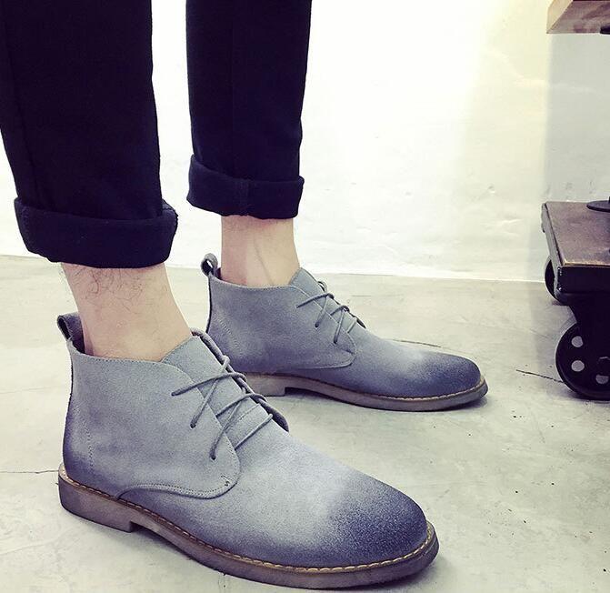 Men Boots Leather Lace Up Men Fashion