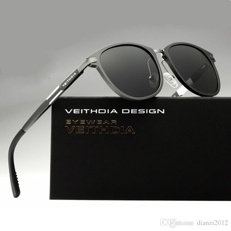 النظارات الشمسية المستقطبة للرجال 2015 جديد الألومنيوم المغنيسيوم الرياضة في الهواء الطلق مكبرة ركوب الدراجات القيادة مرآة الأزياء نظارات شمس نظارات 6680
