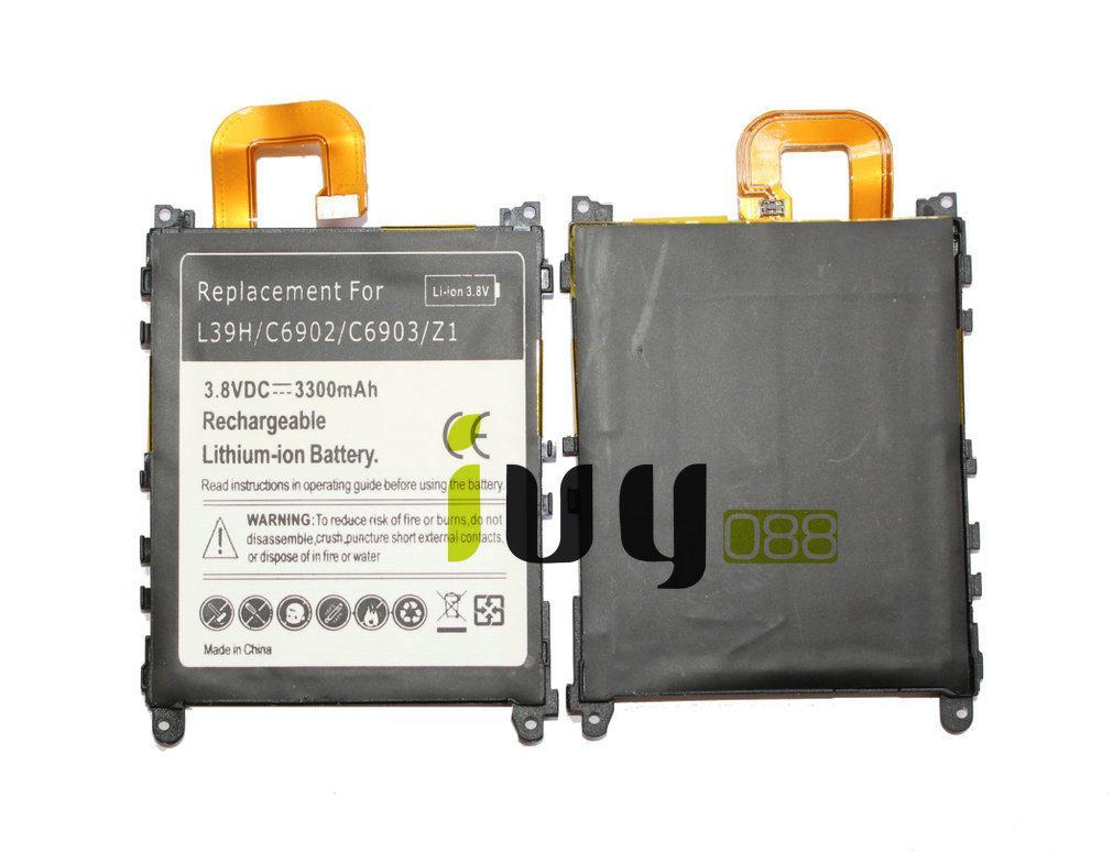 2pcs / lot 3300mAh LIS1525ERPC Ersatzbatterie für Z1 L39H L39T L39U C6902 C6903 C6906 C6916 C6943 Batterien Batteria Batterie Batterij