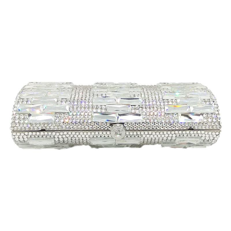 Lusso sereno cristallo sera borse donna partito cena pochette da sposa in metallo frizioni in metallo strass borse borse a mano