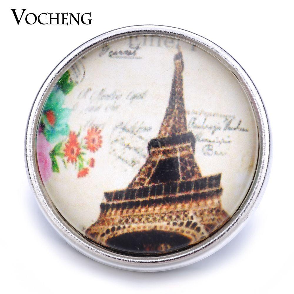 VOCHENG NOOSA En Gros 18mm Verre Bouton Tour Gingembre Snap Jewelry Vn-1240