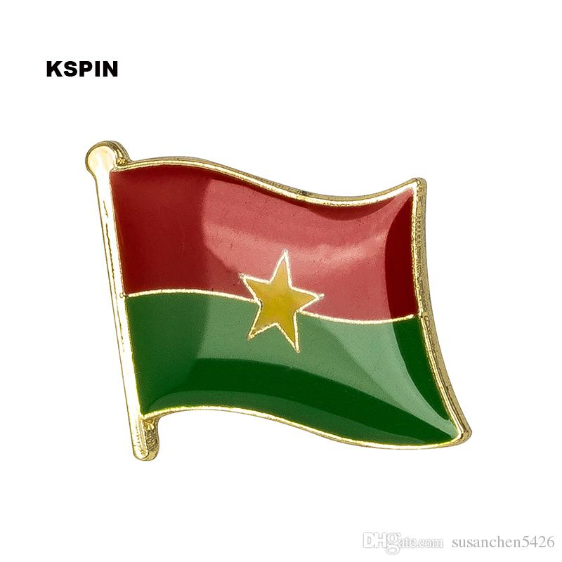 Spedizione gratuita Burundi Faso Metal Flag Badge Flag Pin KS-0044