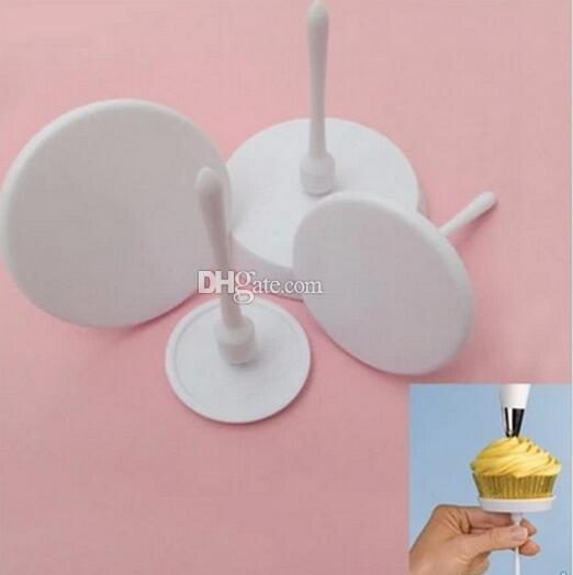 1Set/4PCS New Sugarcraft Cupcake Cake Stand Icing Cream Flower Decorating Nail Set Tool Rdyo