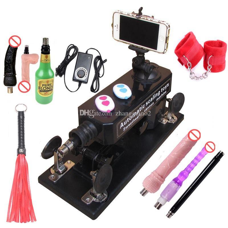 Machine automatique Sex Machine Gun pour hommes / femmes LOVE Machine avec coupe, gros gode, menottes de jeu et couple, fouet en cuir, etc.