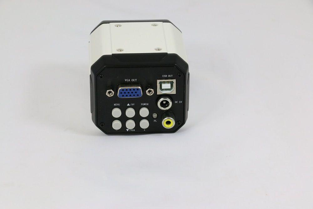 Freeshipping New 3 in 1 HD Digital Industry Industrial Microscope Set Camera Magnifier VGA USB AV TV Video output PCB Lab