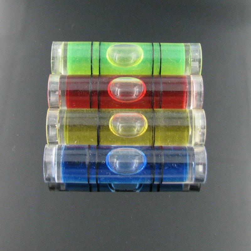 (25 teile / los) 9,5 * 40 mm Kunststoffrohr Ebene Wasserwaage Bubble Vier farbe