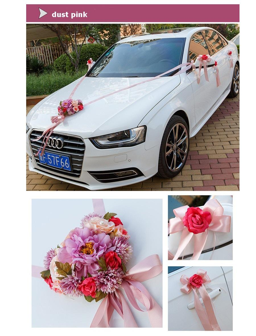 Wedding Car Ribbon Married Car Decorations Bridal Car ...