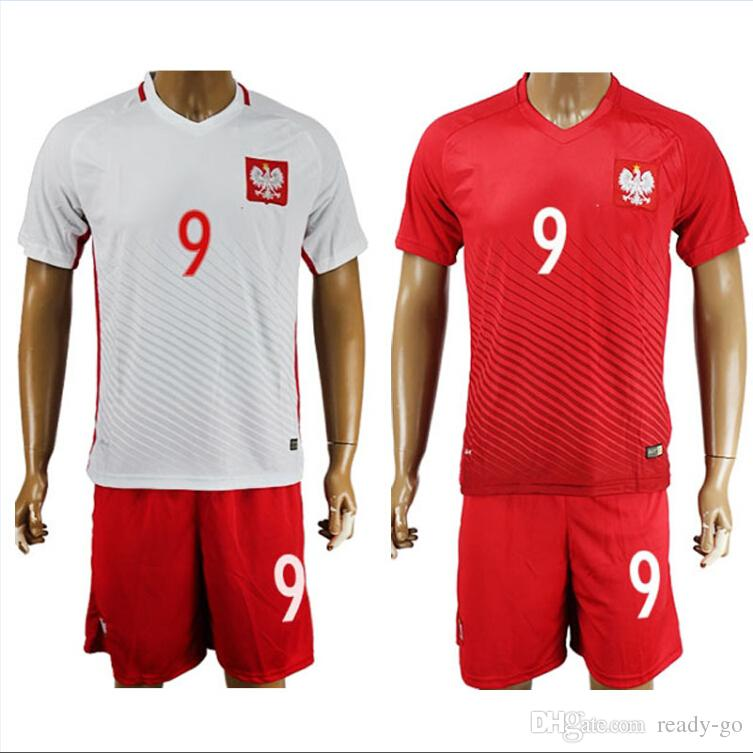 best website 8ee15 708b4 poland 9 lewandowski away soccer country jersey