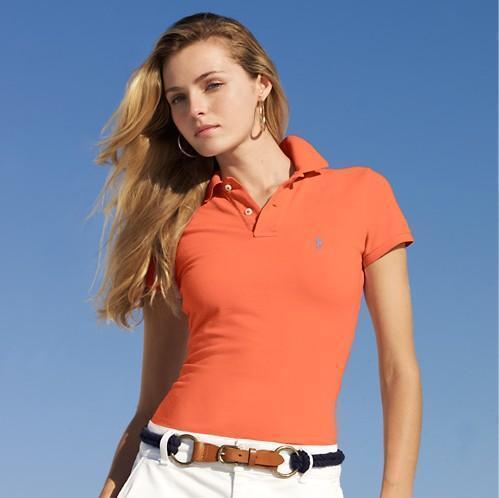 orange polo shirt for women