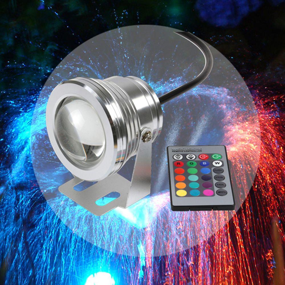 All'ingrosso-10W COB Piscina LED Spot luce subacquea IP68 12V 1000LM Impermeabile Fontana luce RGB 16 Cambia colore telecomando
