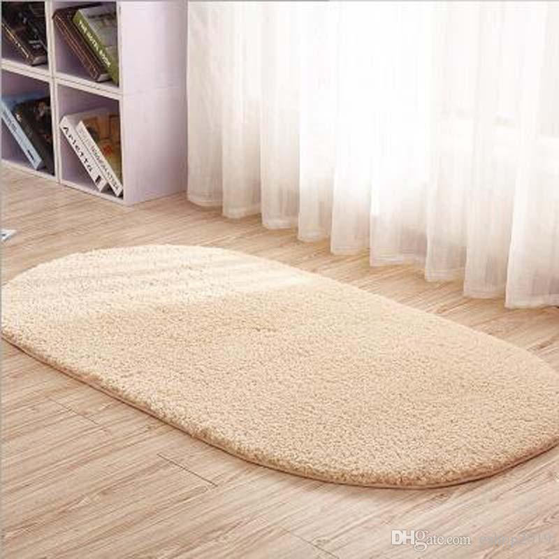 2020 Coral Fleece Bath Mats Floor Protection Mat Oval Bedroom